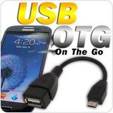 Cable Otg Micro Usb Usb Hembra, Galaxy Nokia Sony Motorola