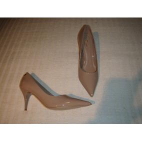 Zapato Gacel De Cuero Charol Colección N º 37. Nude.