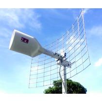 Antena Wifi 20db Grillada Alcance Hasta 7 Km Base Aluminio