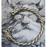 Brazalete Vikingo En Bronce Macizo Art 02