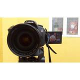 Camara Canon 60d Usada 28-135 Linea Dorada