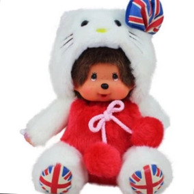Peluche Monchichi Vestido De Hello Kitty