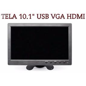 Tela Monitor Lcd 10.1 Colorida Controle Hdmi Vga Mp5 Av Usb