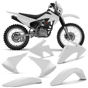 Kit Plastico Crf230 Roupa Crf 230 Completa Branco Pro Tork