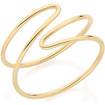Anel Dois Fios Espiral Ouro Rommanel 512158