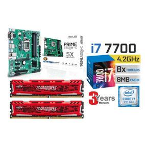 Kit Intel 7ª Geração I7 7700, 16gb Ddr4 , Asus B250m-c