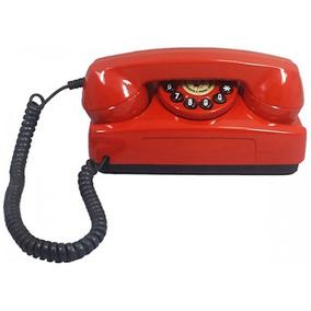 Telefone Antigo Tijolinho Vermelho - Funciona