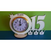 50 Souvenirs Reloj Con Nro15 Y Coronitas 15 Años Cumples