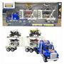 10un Caminhao Com 4 Quadriciclos Super Truck 44cm