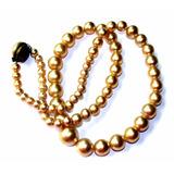 Collar Largo Antiguo Perlas De Menor A Mayor/buen Broche
