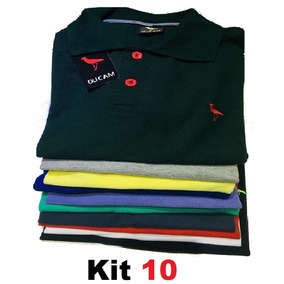 Kit 10 Camisa Polo Masculina* Frete Grátis* Atacado