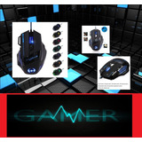 Mouse Gamer Profesional 7 Botones Led Pc Mac Optico Barato