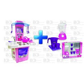 Fogão Infantil Nova Big Cozinha + Kit Liquidificador