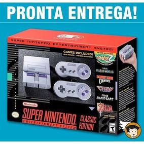 Super Nintendo Classic Edition + 2 Controles + 20 Jogos