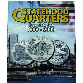 Álbum Moeda Eua States Quarter Dollar 1999 A 2009 0,25 Cents