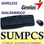 Original Kit Teclado + Mouse Wireless Genius Kb-8000x