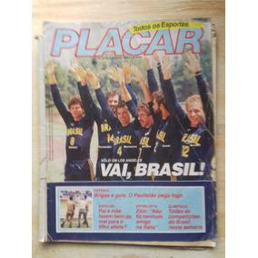 Revista Placar - Nº 741 - 1984 - Vôlei Em Los Angeles