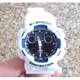 297886a5c68 Relógio Casio Exclusivo Branco Lembra Os Modelos G Shock - Joias e ...