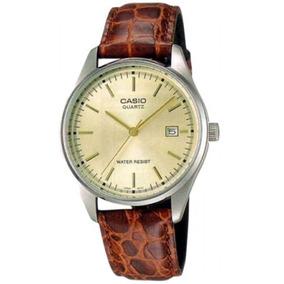 Reloj Hombre Casio Mtp-1175e-9adf Water Rest. Cuero Original
