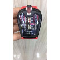Relógio H-blot La Ferrari A Bateria Vermelho E Preto