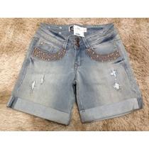 Bermuda Feminino Jeans Lado Avesso 38