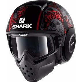 Casco Shark Raw / Drak Sanctus Matt Black Red