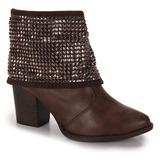 Ankle Boots Feminina Beira Rio - Cafe