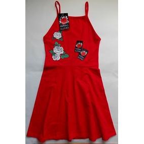 Vestido Rosa Croptop Estampa Rojo Lila Algodon Lycra Diseño