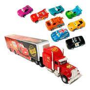 Caminhão Mack Hauler + 8 Carrinhos Mcqueen E Amigos Disney