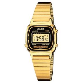 Relógio Casio Feminino Retro La670wga-1df Vintage Mini