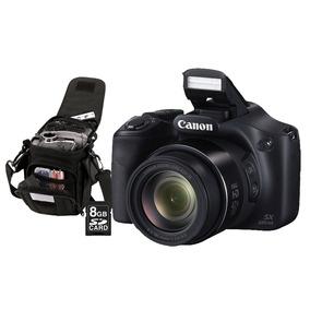 Câmera Digital Canon Powershot Sx520hs 16mp C/ Bolsa E Sd
