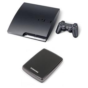 Ps3 Desbloqueado+2 Controles + Hd Externo 500 Gb+ 10 Jogos