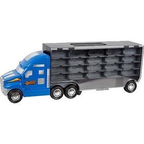 Caminhão Maleta Para 40 Carrinhos Estilo Hot Wheels Carreta