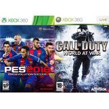 Pes 18 + Call Of Duty Word At War Xbox 360 Digital Original