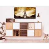 Quadro Decorativo Sala Tema Paris 55x100 Rf107