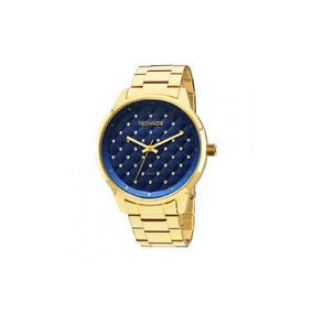 e2f1884e1a220 Relógio Ano 90 Technos Dourado Fundo Azul Raro - Relógios no Mercado ...