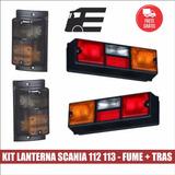 Kit Lanterna Scania 112 113 Pisca Fumê + Traseiras 4 Peças