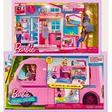 Kit Barbie Casa De Férias E Mega Trailer Popup Camper Mattel