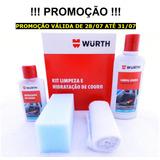 Kit Limpeza Hidratação Banco Couro Wurth Hidratante Limpador
