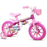 Bicicleta Nathor Aro 12 Flower Rosa Infantil Feminino