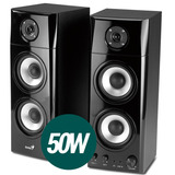 Parlantes Genius Hf1800a 50w 3 Vias Madera 2.0 Pc Tv Dvd