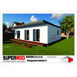Casa Vivienda Modular Habitacional Prefabricado 54m2