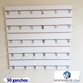 Kit Painel Canaletado 0,90cm X90cm +50 Ganchos+ Canaletas