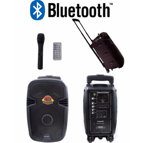Caixa Som Ativa Amplificada Ecopower 300w Microfone Sem Fio