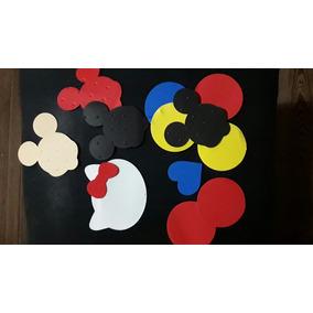 Figura Formas Gomaeva X12u Mickey Kitty Corazón Moños Cole