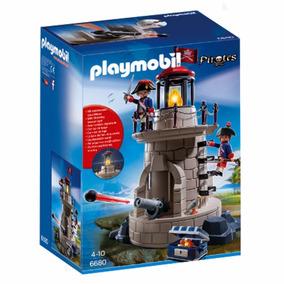 Playmobil Torre De Soldados Con Luz Y Cañón 6680