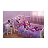 Set Edredon Cama 4 Piezas Toddler Disney Minnie Mouse