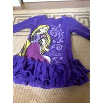 Conjunto Remera Y Calza Nena Violeta Disney Store Rapunzel