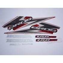 Kit Adesivos Nxr150 Ks Bros 2006 Vermelha - Resinado- Decalx