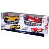 Maisto 1/24 Set 2 Autos Corvette Metal P/ Armar Decorados